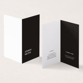 Carte De Visite Conseiller blanc noir élégant simple minimaliste