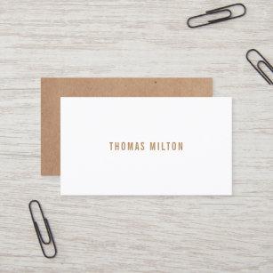 Carte De Visite Consultant En Matiere Imprime Par Minimaliste