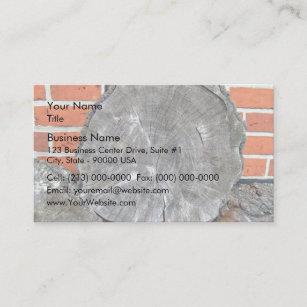 Carte De Visite Coupez La Texture Fibre Bois Rondins