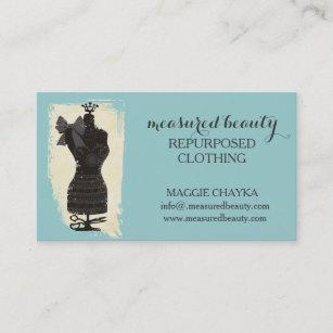 Carte De Visite Couture Factice Mannequin Mode Robe Faite
