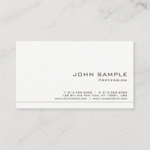 Carte De Visite Crez Votre Propre Chic Mat Blanc Moderne