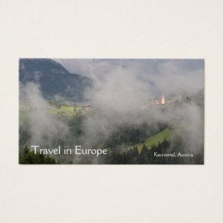 Carte de visite d'agent de voyage de l'Autriche