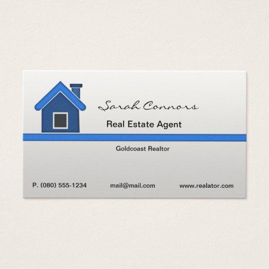 Carte De Visite D Agent Immobilier Zazzle Be