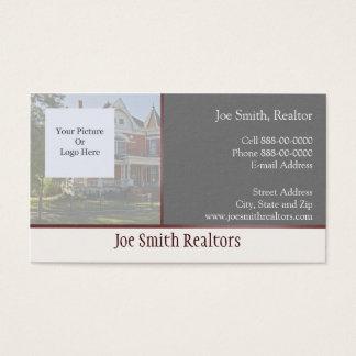Carte de visite d'agent immobilier d'immobiliers
