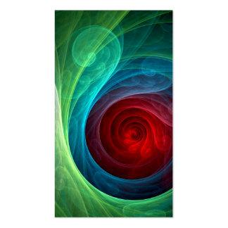 Carte de visite d'art abstrait de Red Storm