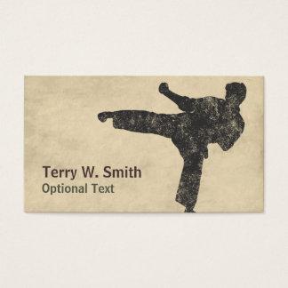 Carte de visite d'arts martiaux