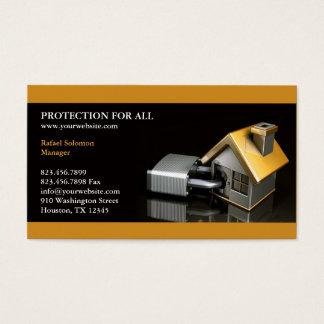 Carte de visite d'assurance de sécurité