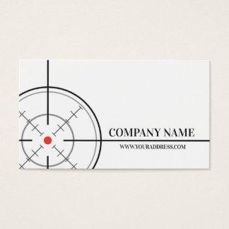 Carte de visite de blanc de cible de magasin