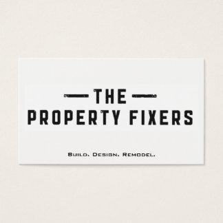 Carte de visite de blanc de fixateurs de propriété