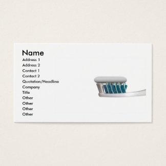 Carte de visite de brosse à dents