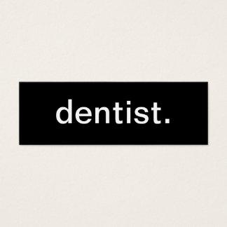 Carte de visite de dentiste