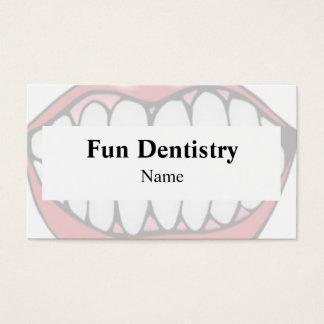 Carte de visite de dentiste de bouche