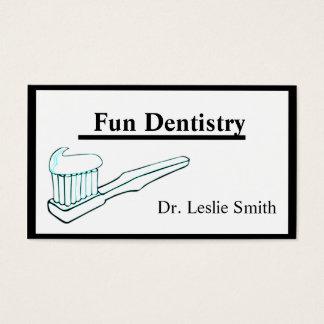 Carte de visite de dentiste de brosse à dents de