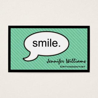 Carte de visite de dentiste d'orthodontiste de