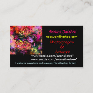 Carte De Visite Dragons Daquarelle