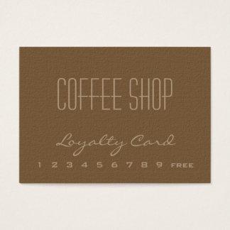 Carte de visite de fidélité de café-restaurant