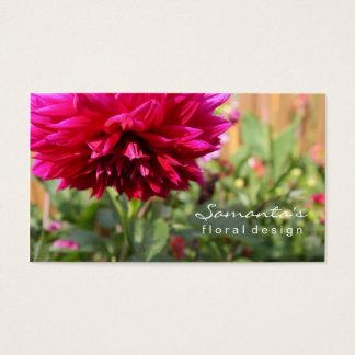 Carte de visite de fleuriste