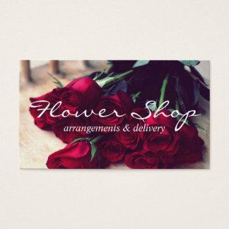 Carte de visite de fleuriste de la livraison de