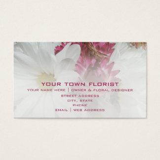 Carte de visite de fleuriste - marguerites et