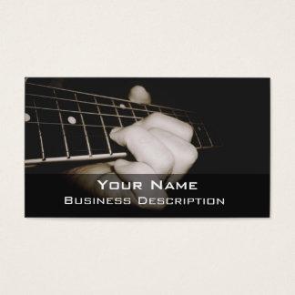 Carte de visite de joueur de guitare
