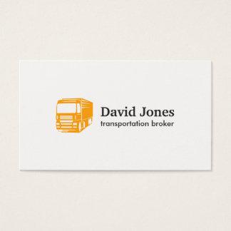 Carte de visite de logo de transport et de