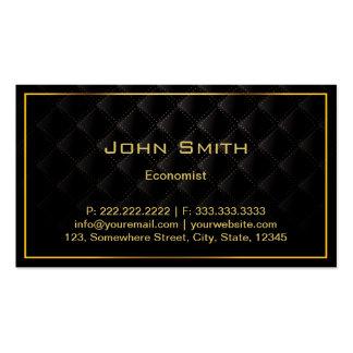 Carte de visite de luxe foncé d économiste de fron