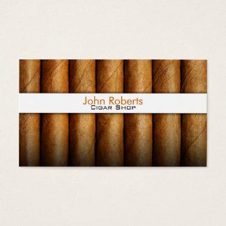 Carte de visite de magasin de cigare