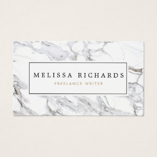 Carte de visite de marbre blanc Luxe professionnel