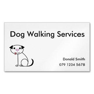 Carte de visite de marcheur de chien