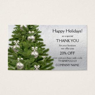 Carte de visite de Merci de vacances d'arbre