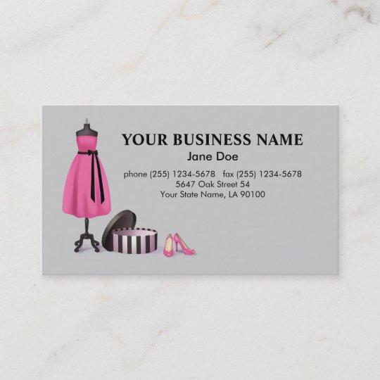 Carte De Visite Mode Couture
