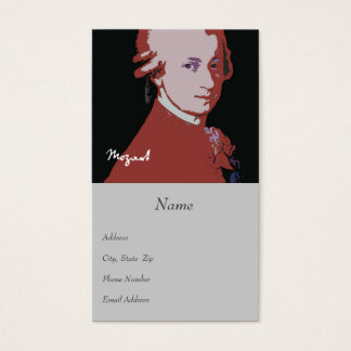 Carte de visite de Mozart
