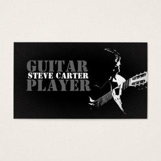 Carte de visite de musicien de guitariste de