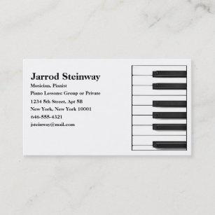 Carte De Visite Musicien Pianiste