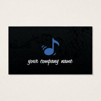 Carte de visite de musique et de musicien