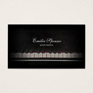 Carte de visite de noir de professeur de musique