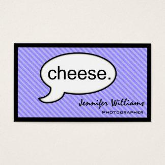 Carte de visite de photographe de fromage de nuage