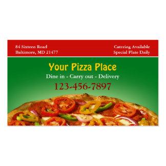 Carte de visite de pizza