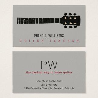 carte de visite de professeur de guitare avec le