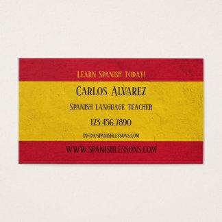 Carte de visite de professeur de langue espagnole