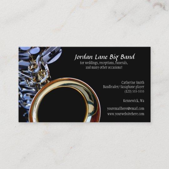 Carte De Visite Profil Dorchestre Saxophone
