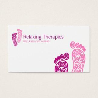Carte de visite de réflexothérapie