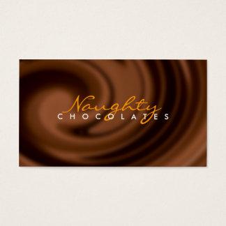 Carte de visite de remous de chocolat
