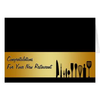Carte de visite de restaurant de félicitations