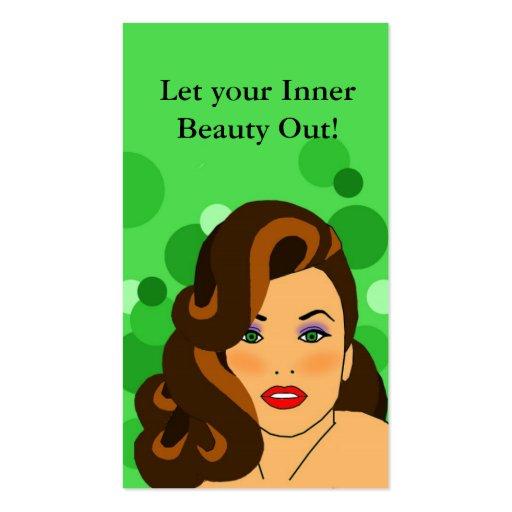 carte de visite de salon de beauté