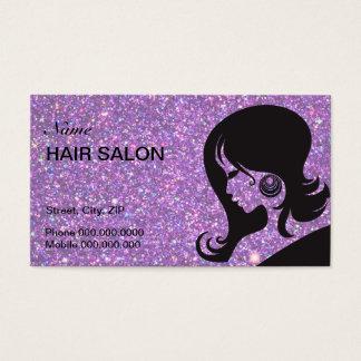 Carte de visite de salon de coiffure d'étincelle