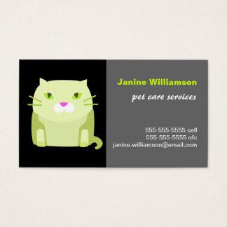 Carte de visite de soin de chat