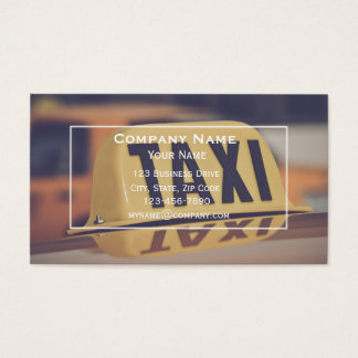 Carte de visite de taxi