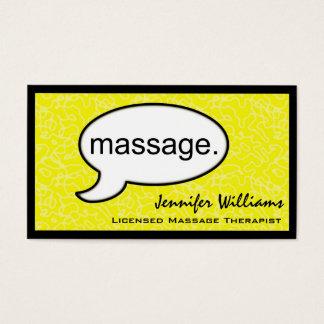 Carte de visite de thérapeute de massage de nuage