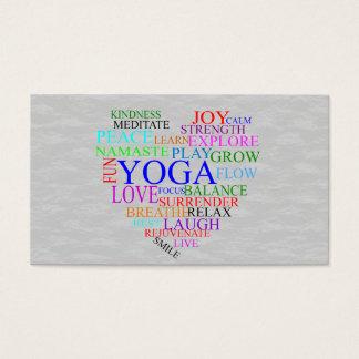 Carte de visite de yoga de coeur pour le